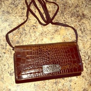 Vintage Brighton Crossbody Wallet Leather Bag